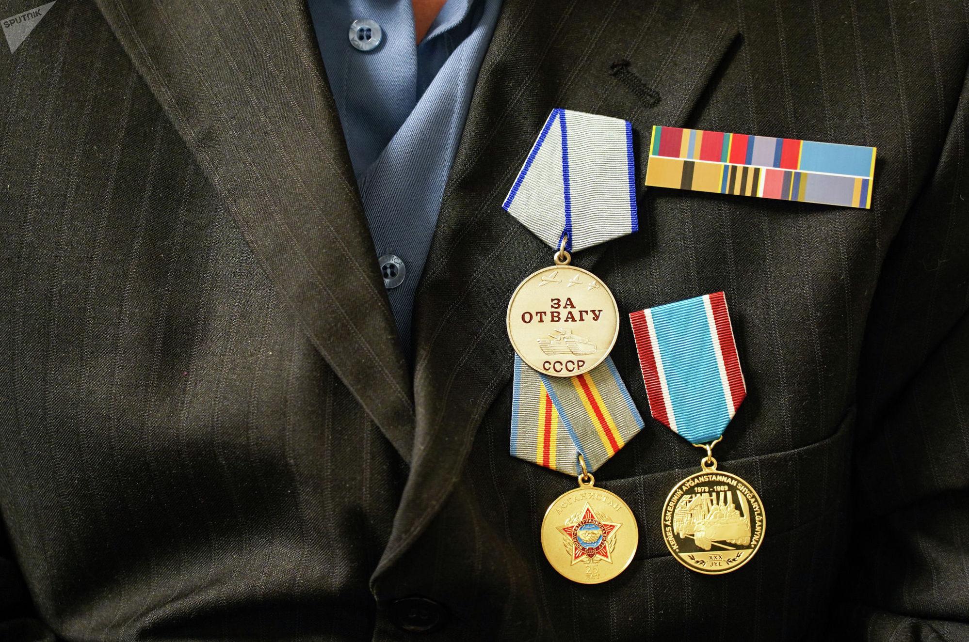 Ветеран войны в Афганистане Александр Яшин награжден медалью За отвагу