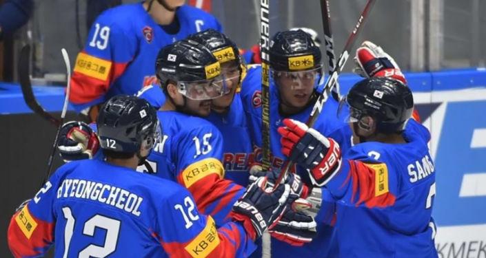 Сборная Кореи на чемпионате мира по хоккею в первом дивизионе