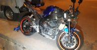 Шаляпин көшесінде жеңіл көлік пен мотоцикл соқтығысты