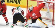 Матч сборных Венгрии и Литвы на чемпионате мира по хоккею в первом дивизионе