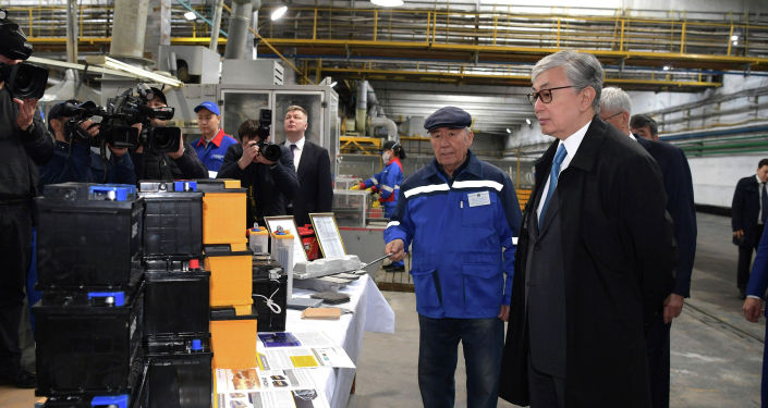 Президент Казахстана Касым-Жомарт Токаев посетил ТОО Кайнар АКБ