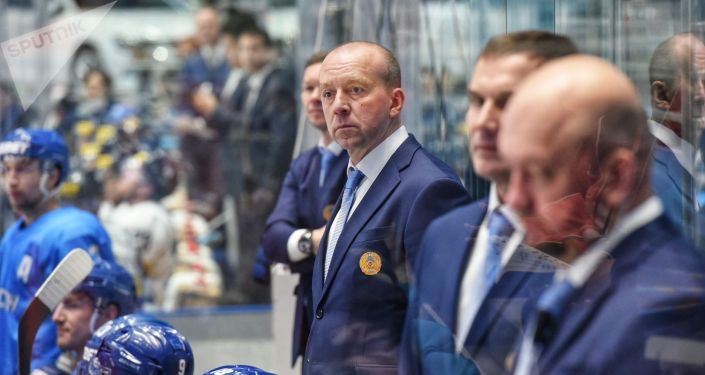 Главный тренер сборной Казахстана по хоккею Андрей Скабелка