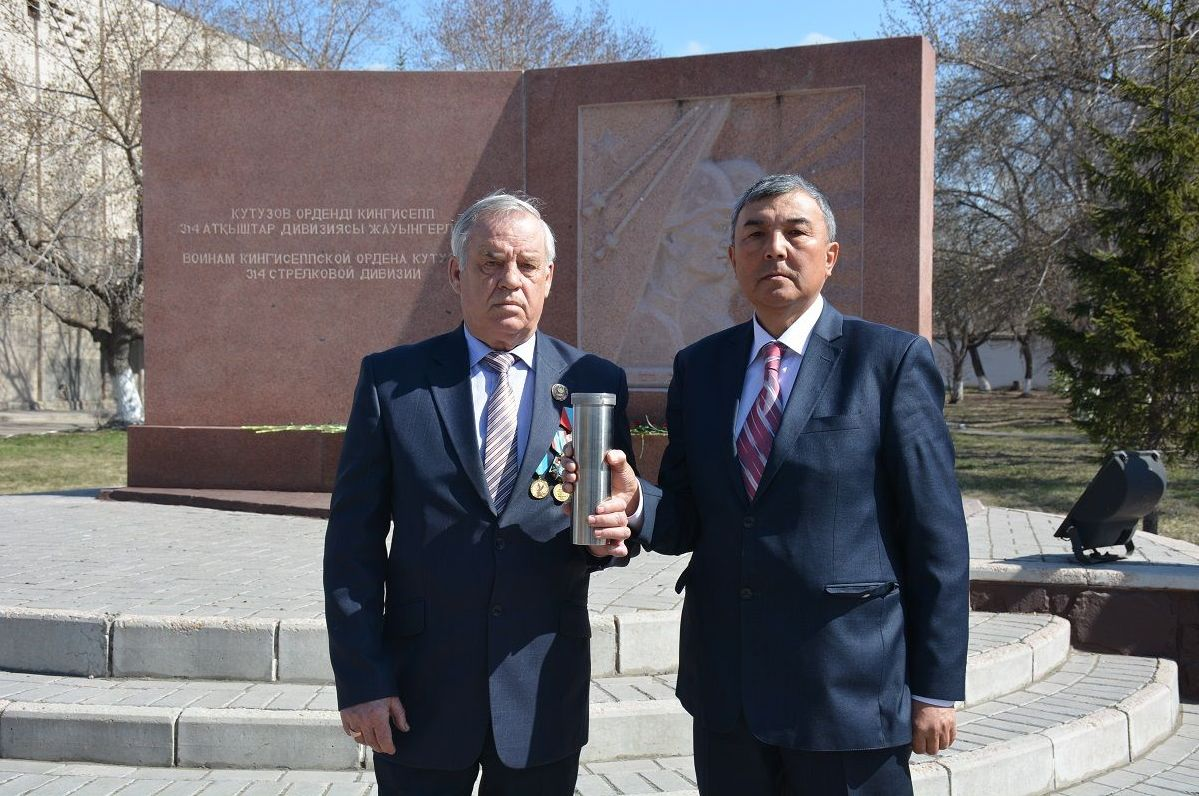 Ветераны полиции СКО повезут в Россию капсулу с землей в память о воинах 314 стрелковой дивизии