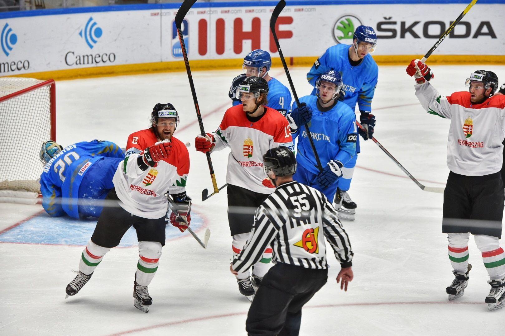Матч сборных Казахстана и Венгрии на чемпионате мира по хоккею первого дивизиона
