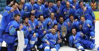 Сборная Казахстана на чемпионате мира по хоккею первого дивизиона. Финал