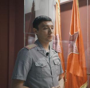 Рақымжан Қошқарбаевтың Рейхстагқа тіккен Жеңіс туының көшірмесі