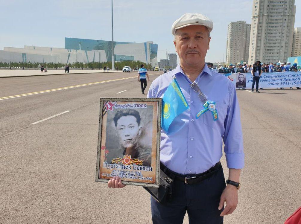 Әбушайым Нұрғалиев Жаужүрек полк акциясына алғаш рет қатысып отыр