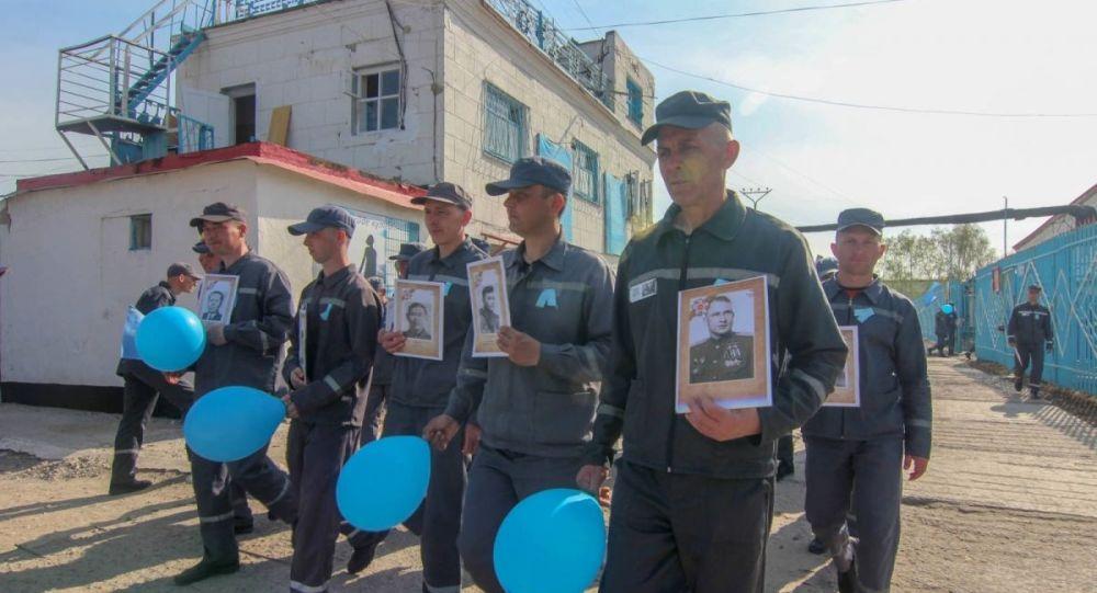 Шествие Бессмертного полка состоялось в колониях Павлодарской области