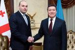 Премьер-Министр Казахстана А. Мамин провел переговоры с Премьер-Министром Грузии М. Бахтадзе
