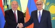 Мемлекет басшысы Қасым-Жомарт Тоқаев Армения президенті Армен Саркисянмен кездесті