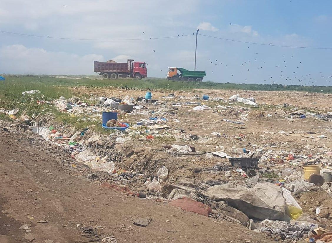 Работы по ликвидации тления отходов на мусорном полигоне