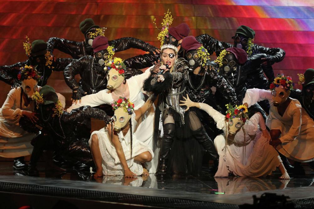 Певица Мадонна выступила на Гранд-финале Евровидения 2019
