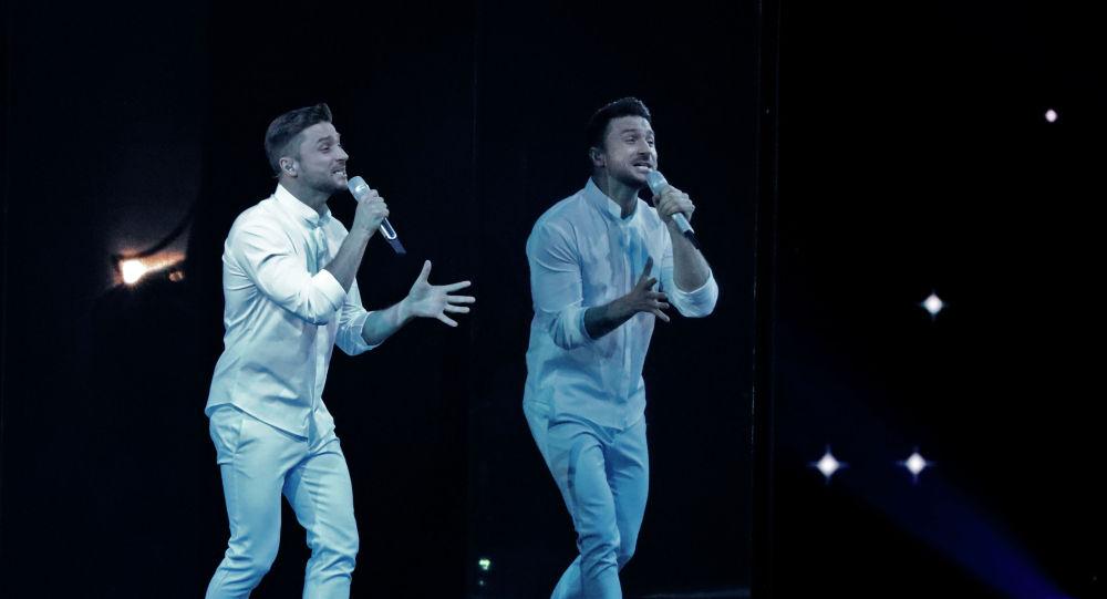Певец Сергей Лазарев из России в финале международного конкурса Евровидение-2019