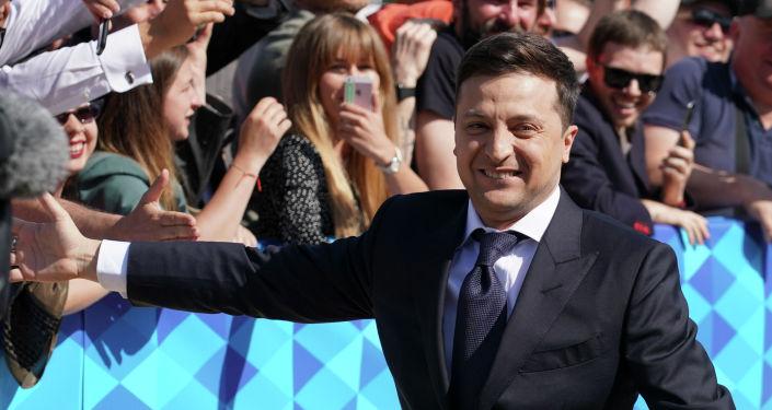 Владимир Зеленский до начала церемонии инаугурации