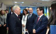 Нурсултан Назарбаев посетил предвыборный штаб партии Nur Otan