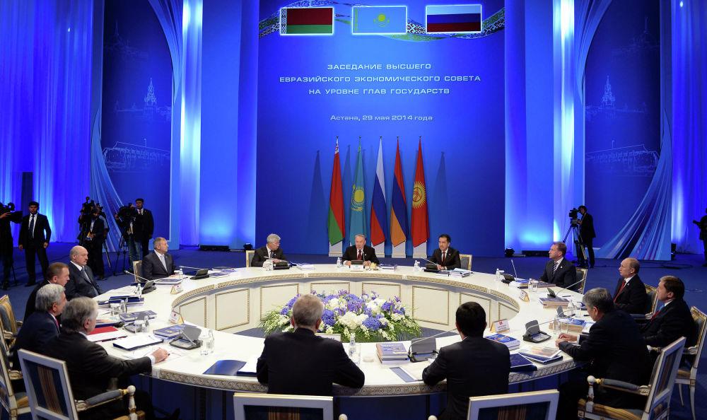 Участие в заседании Высшего Евразийского экономического совета в расширенном составе Астана, Дворец Независимости, 29 мая 2014 год