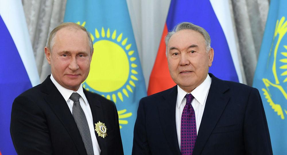 Нурсултан Назарбаев и Владимир Путин