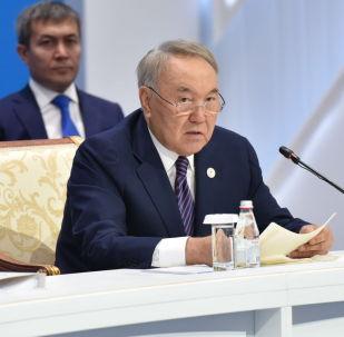 Первый президент Казахстана - Елбасы - Нурсултан Назарбаев на расширенном заседании ВЕЭС