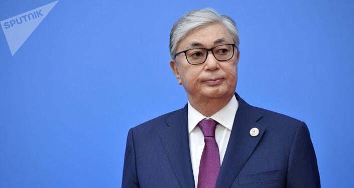 Президент Казахстана Касым-Жомарт Токаев на церемонии приветствия глав делегаций государств - участников Высшего Евразийского экономического совета