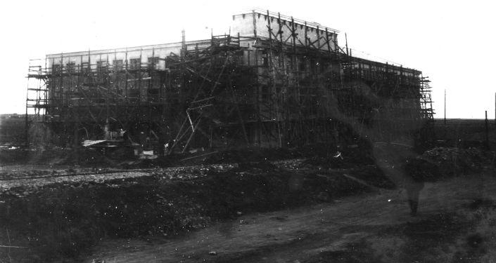 Строительство горного техникума, 1934 год