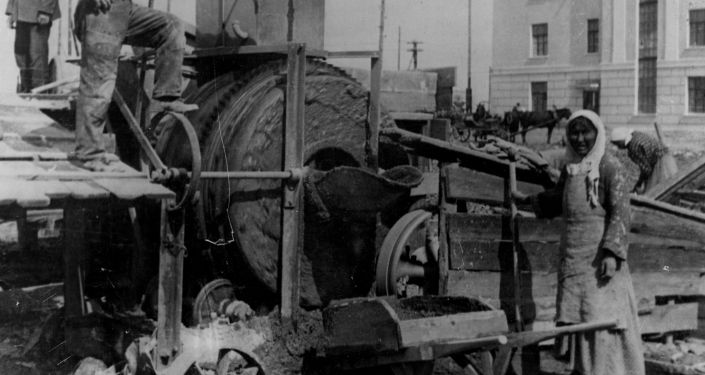 Строительство банка. Новый город, 1934 год