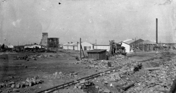 Строительство шахты А им. Костенко, 1935 год