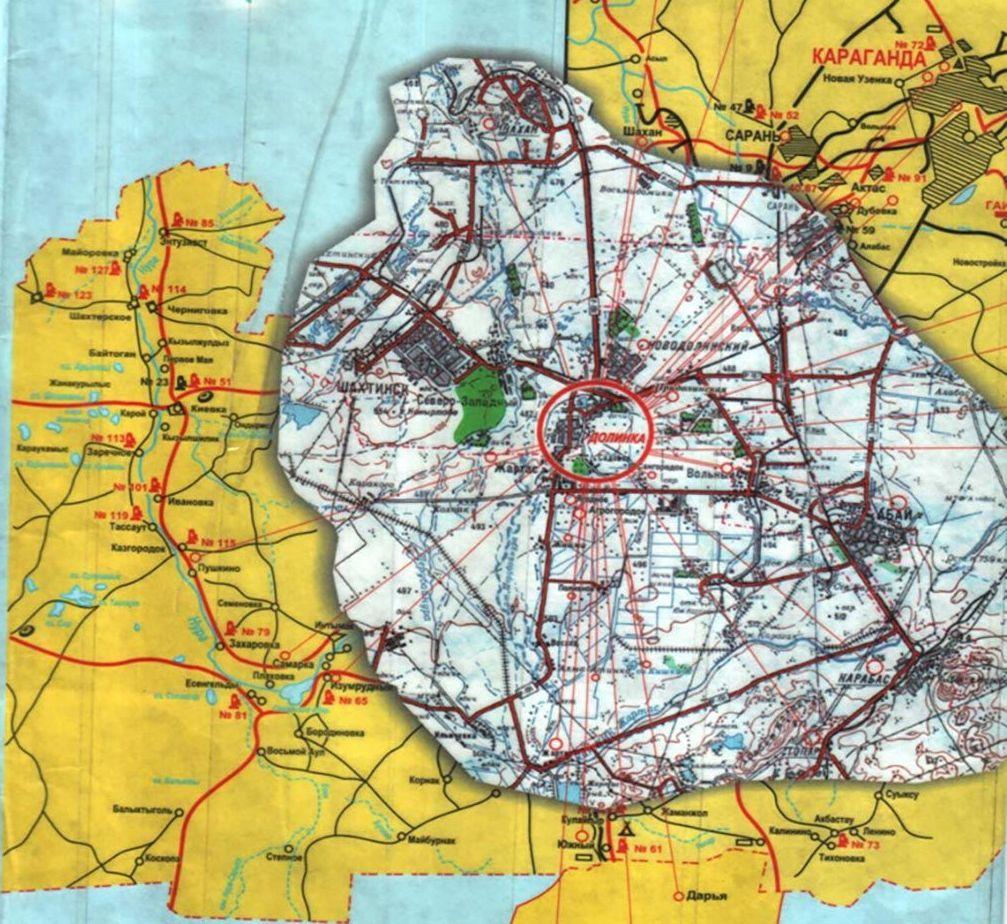 Карта Карлага