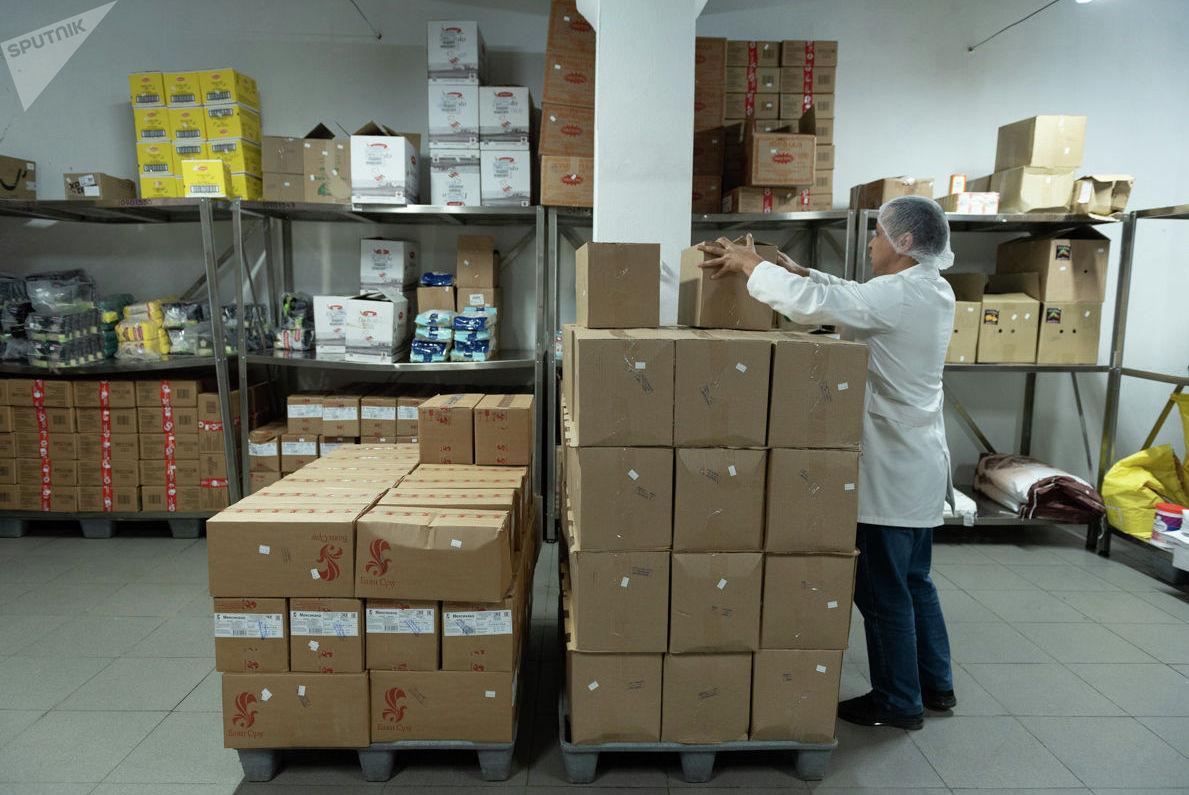 Склады Центра бортового питания алматинского аэропорта Центр бортового питания