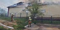 Тушение пожара в здании ТОО Дон-Мар, Центр Досуга (Дом молитв)