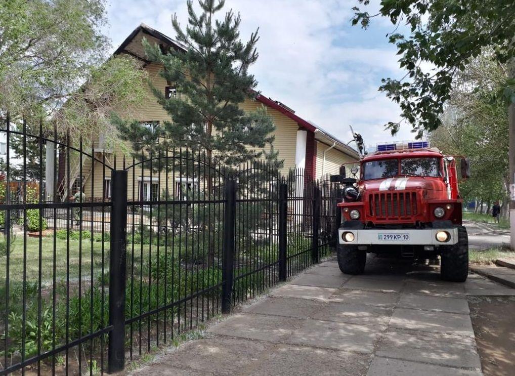 Тушение пожара в здании ТОО «Дон-Мар», Центр Досуга (Дом молитв)