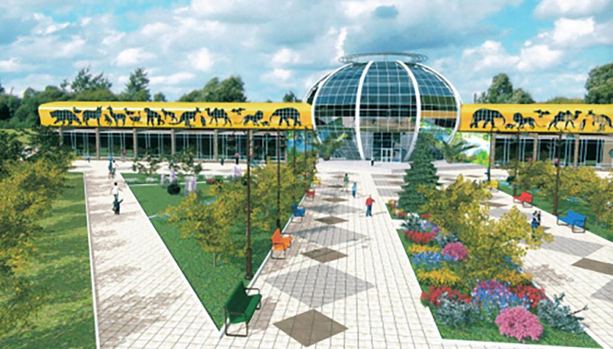 Концепт-проект будущего здания зоопарка в Караганде