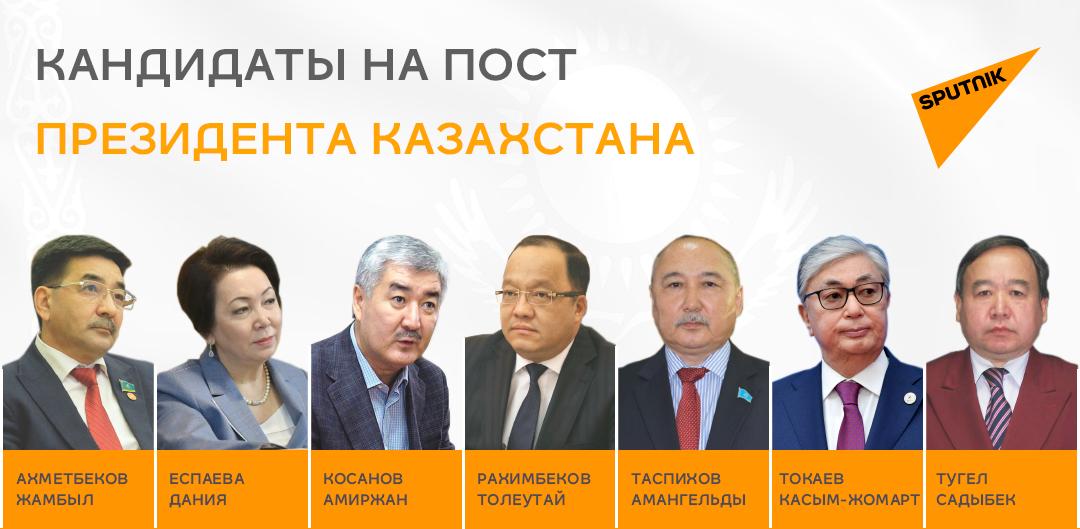 Семь кандидатов в президенты Казахстана