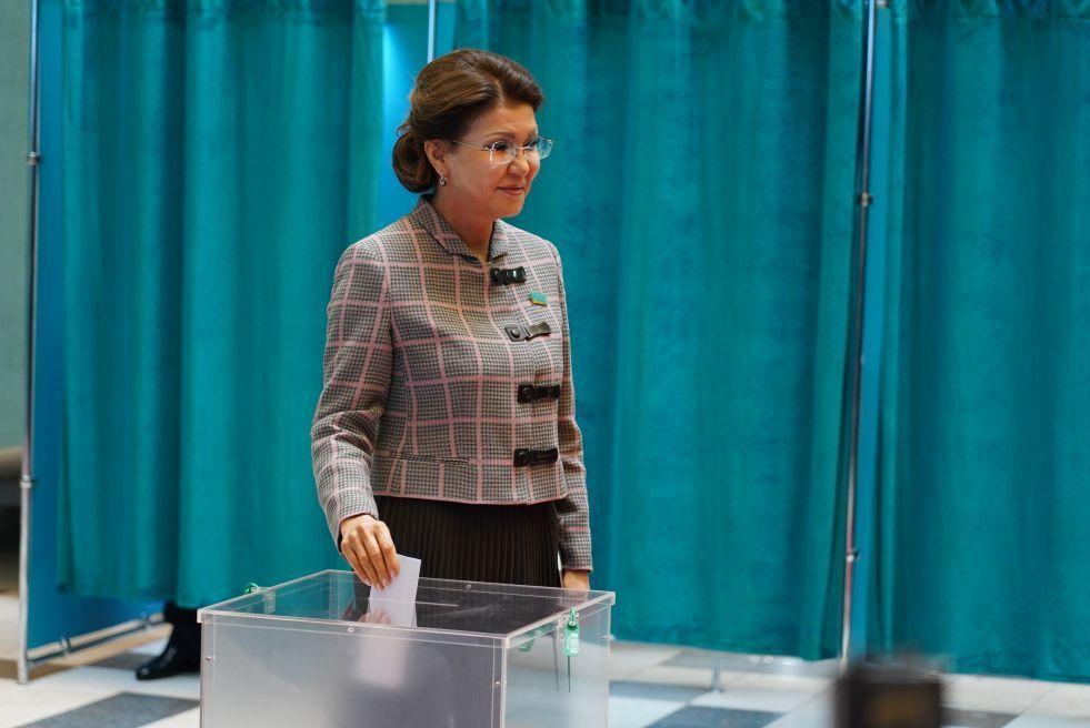 Спикер Спикер сената на голосовании президента Республики Казахстан