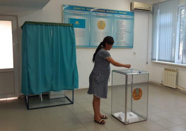Гульнур Бибисова тоже голосует в роддоме