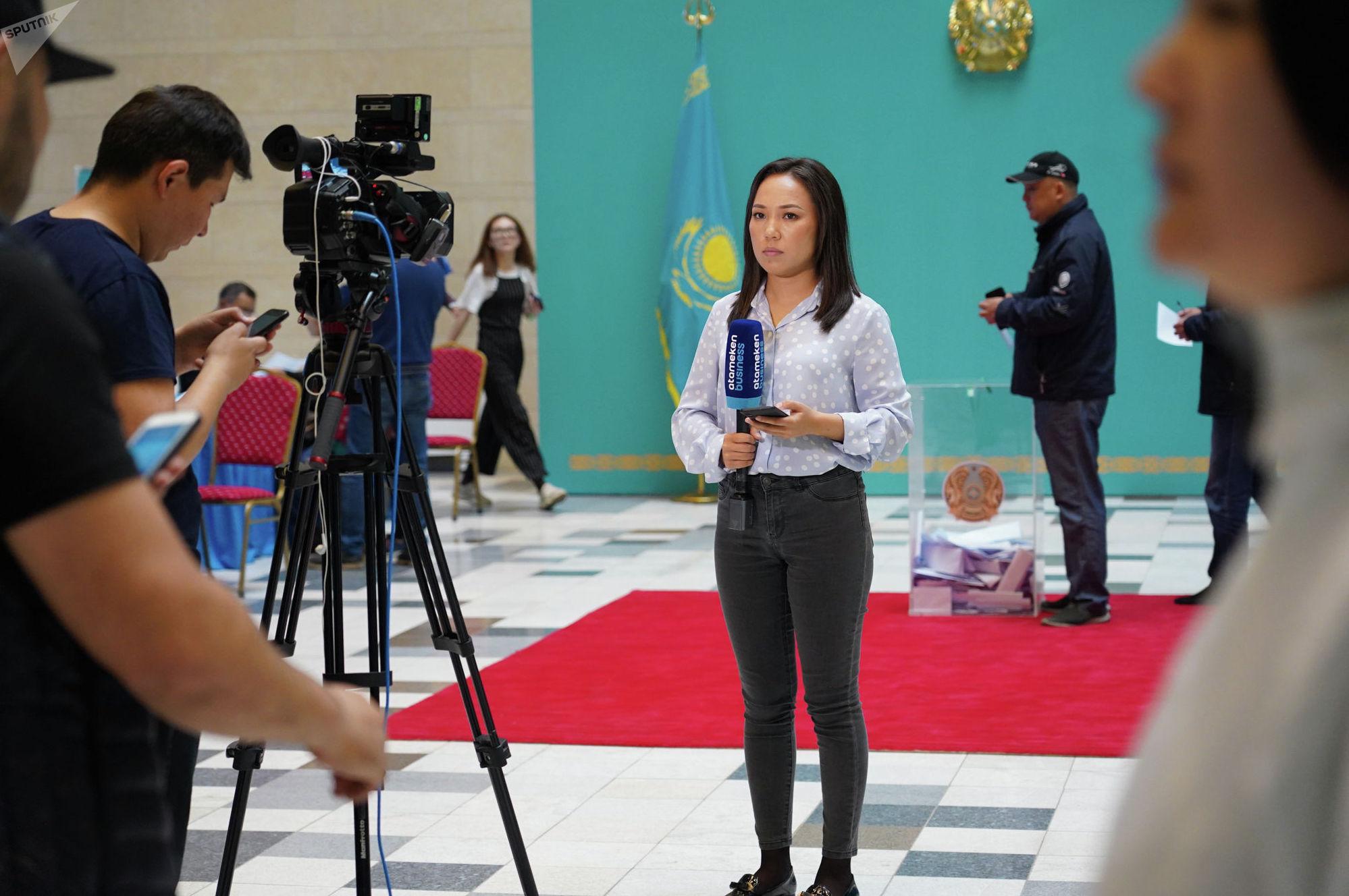 Телекорреспондент на выборах 2019