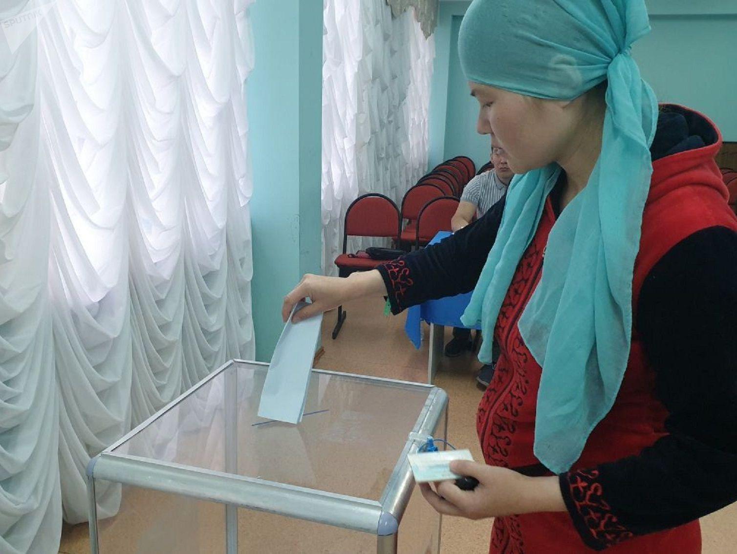 Голосование на закрытом участке в перинатальном центре №2