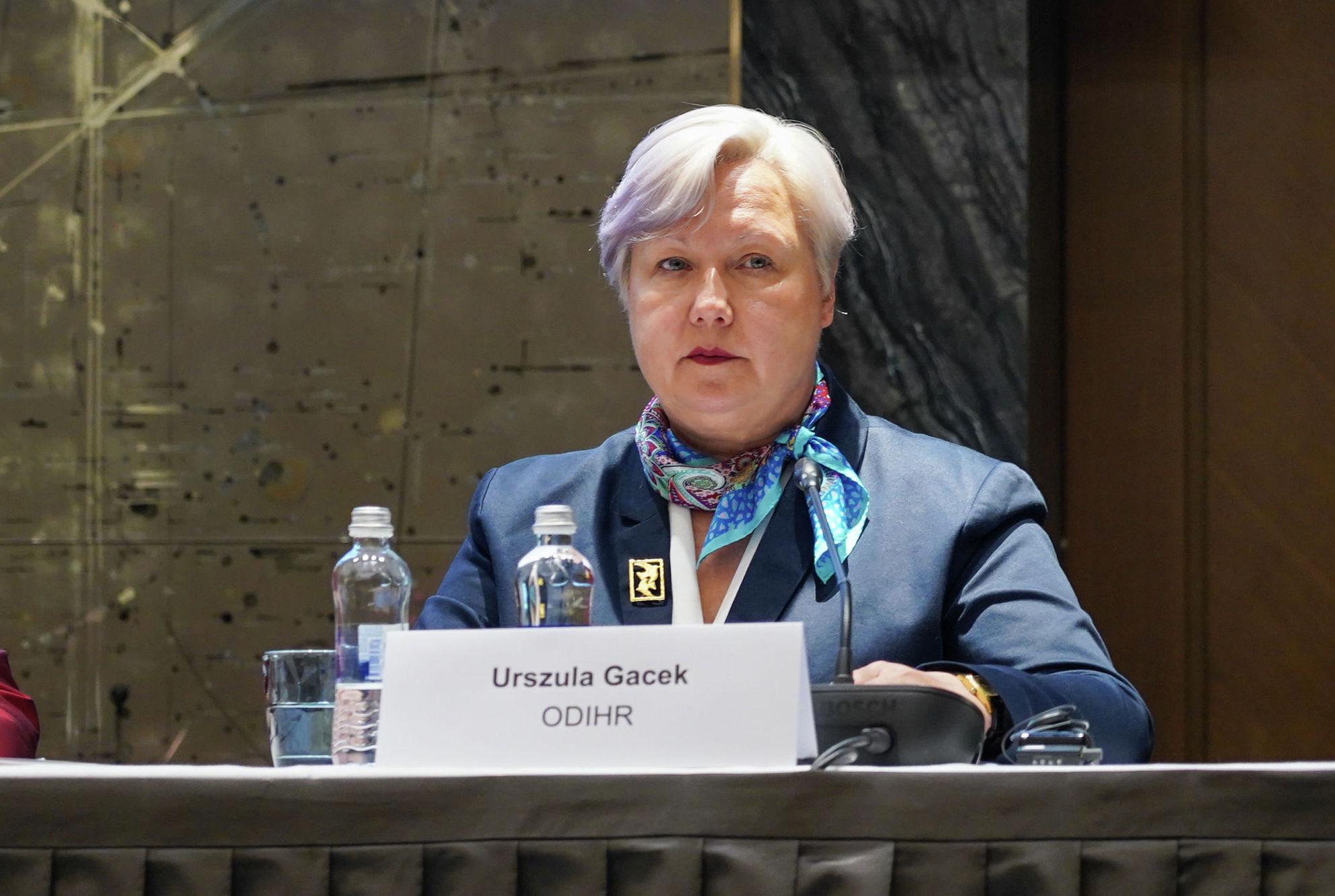 Глава миссии по наблюдению за выборами БДИПЧ Уршула Гацек