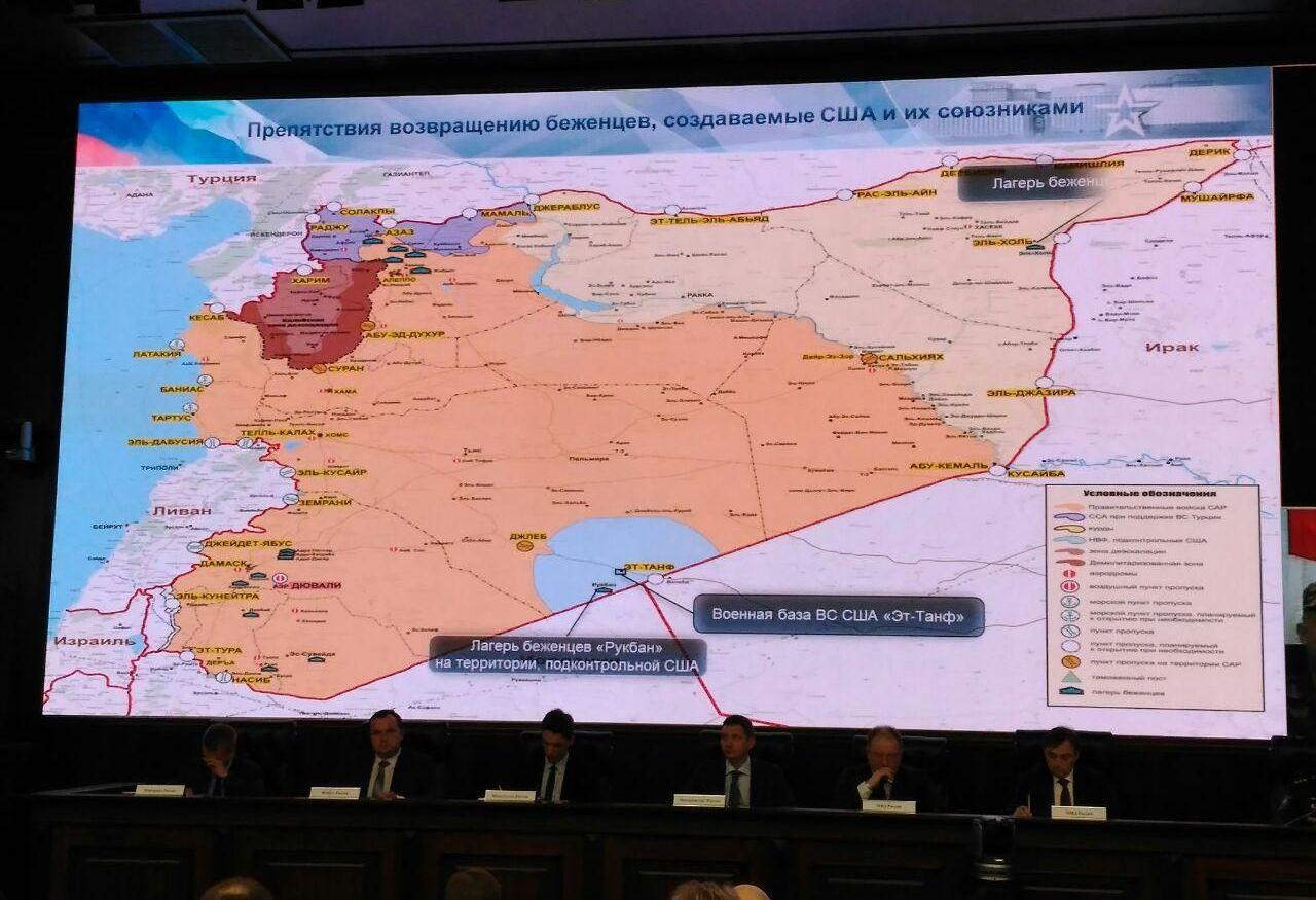 Заседание межведомственных координационных штабов (МКШ) России и Сирии по возвращению беженцев на территорию Сирийской Арабской Республики в Минобороны России