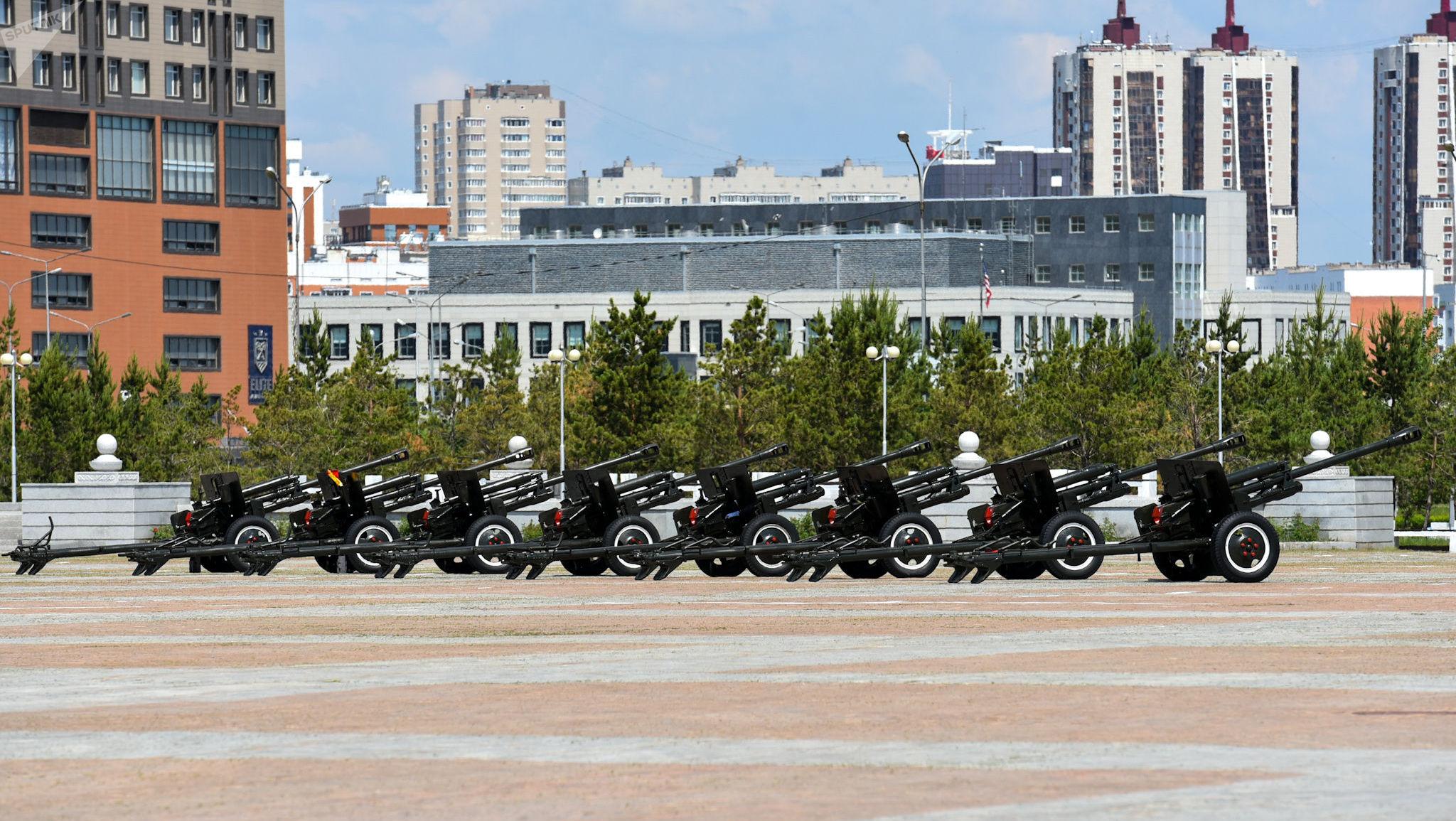 Подготовка к инаугурации президента Казахстана на площади Казак ели