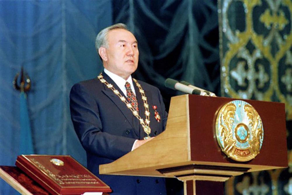 Третья инаугурация состоялась во Дворце Акорда 11 января 2006 года. По итогам президентских выборов 4 декабря 2005 года Президент Казахстана набрал 91,15% голосов.