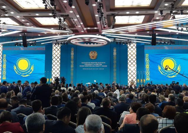 Шанырак установлен в зале, где пройдет инаугурация избранного президента