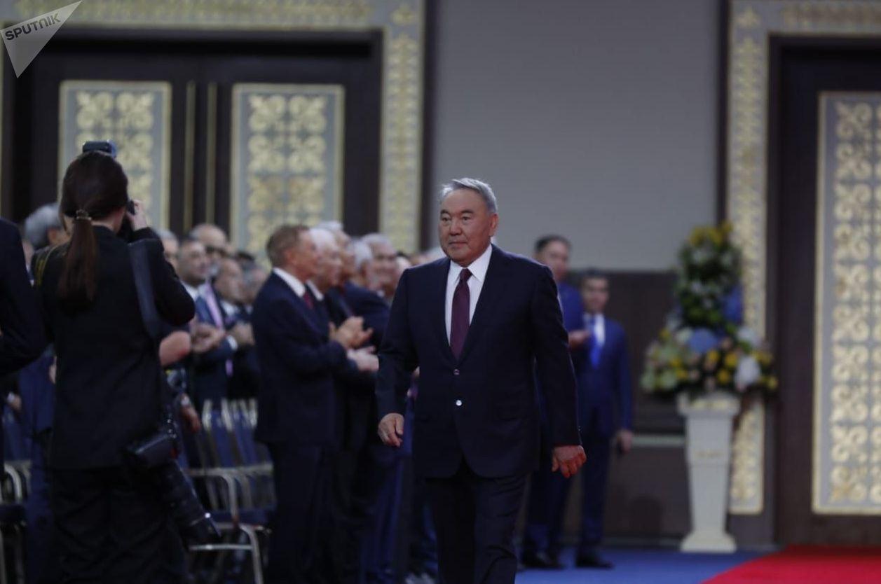 Нурсултан Назарбаев на инаугурации избранного президента Казахстана Касым-Жомарта Токаева, 12 июня 2019 года
