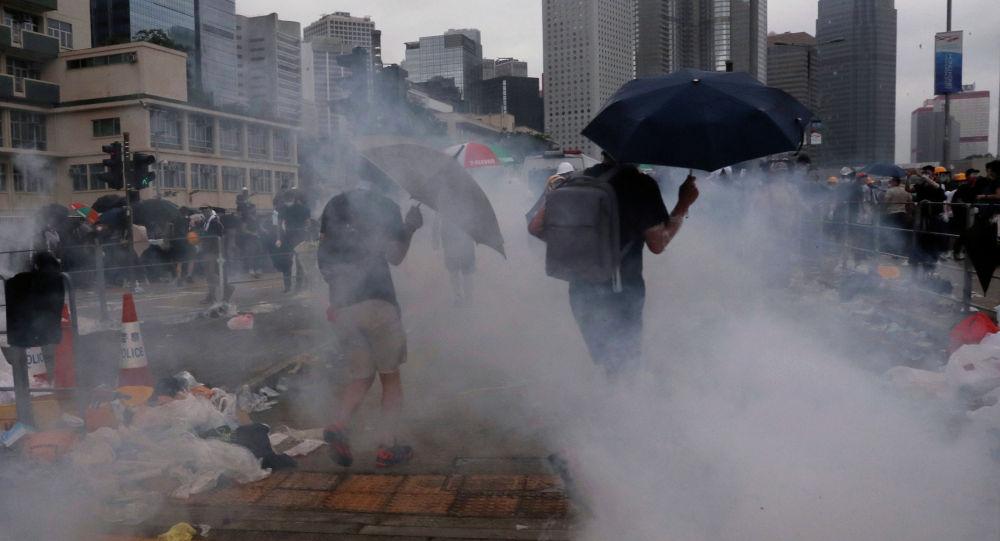 В Гонконге проходит многотысячная акция протеста