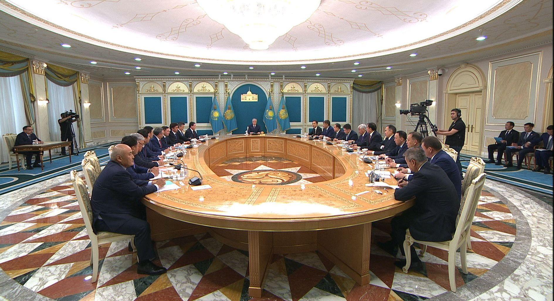 Президент Казахстана Касым-Жомарт Токаев на совещании с акимами