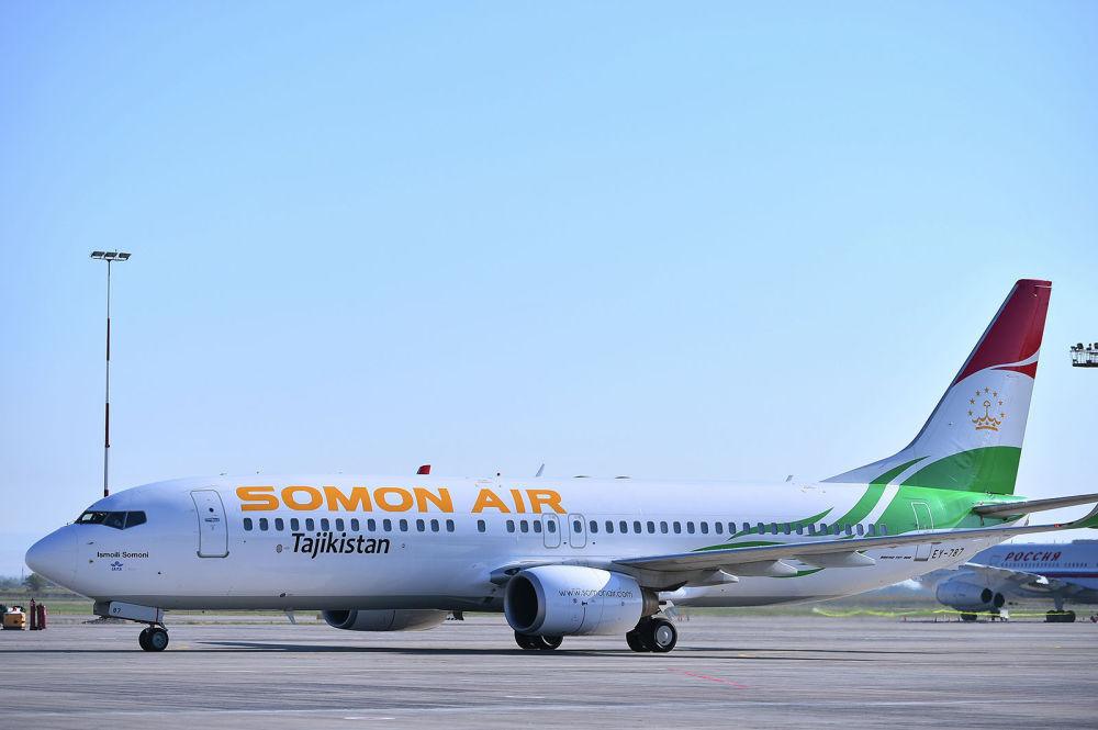 Глава Таджикистана Эмомали Рахмон прилетел в Бишкек на Boeing 737-800