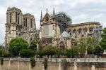 Установка защитного покрытия над собором Парижской Богоматери