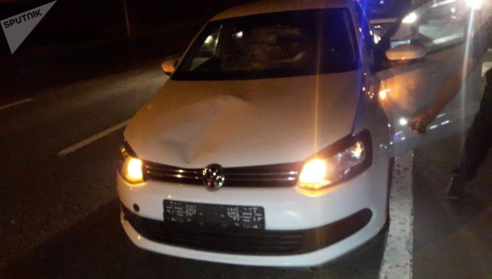 Смертельное ДТП с участием Volkswagen Polo в Алматы