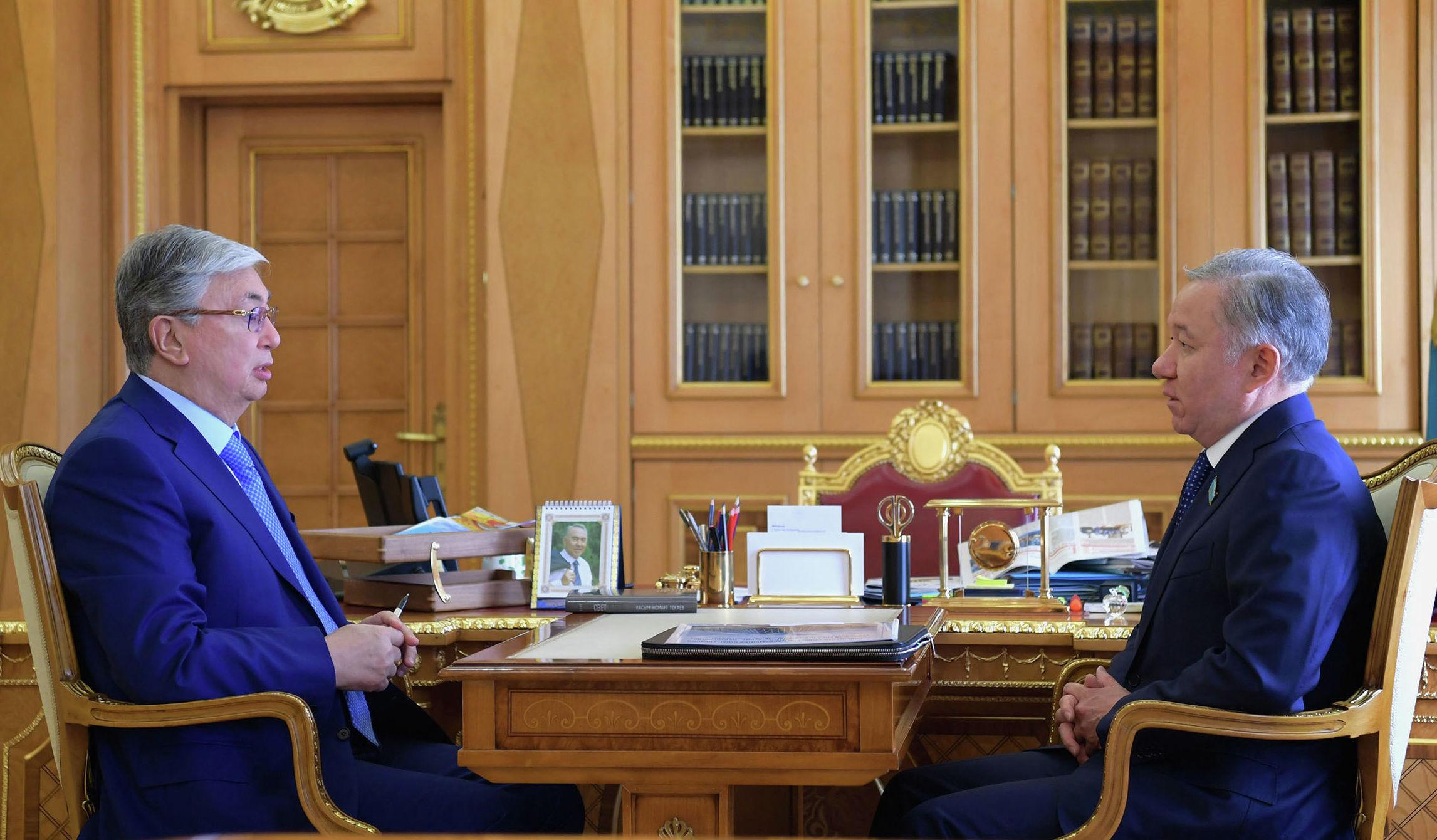 Президент Казахстана Касым-Жомарт Токаев принял председателя Мажилиса Нурлана Нигматулина