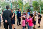 Алтай Кульгинов на встрече с жителями