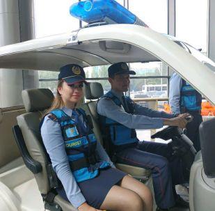 Сотрудники турполиции Казахстана